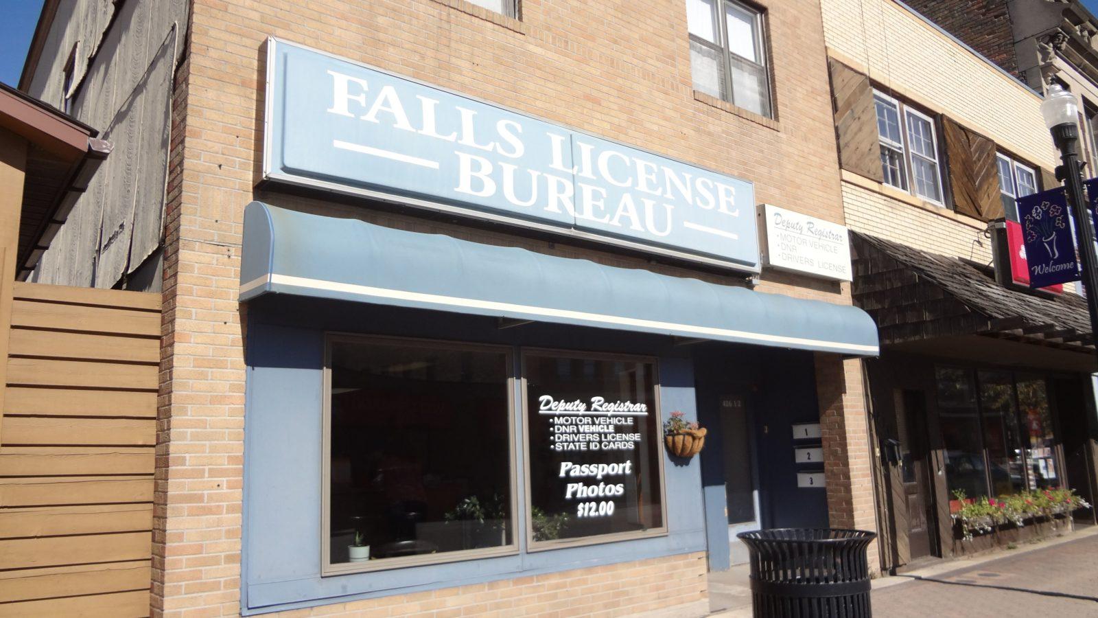 Falls License Bureau exterior shot