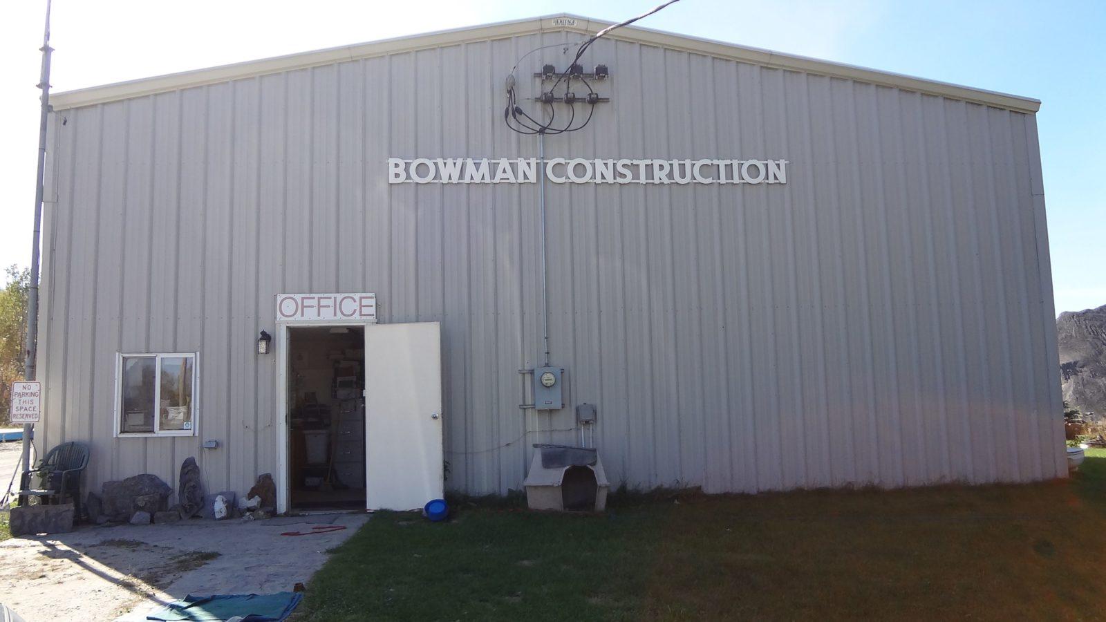 Bowman Construction exterior shot