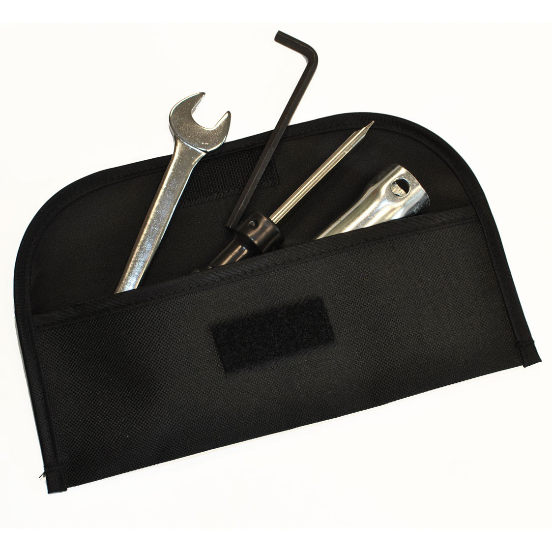 Tool pouch with tools fanned out