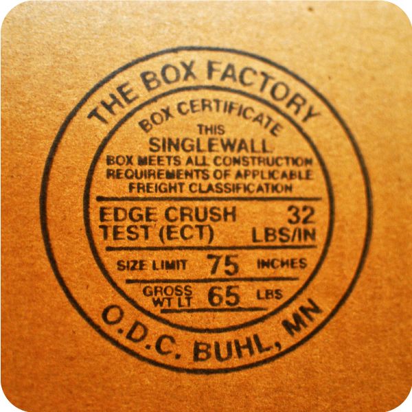 The Box Factory logo stamp